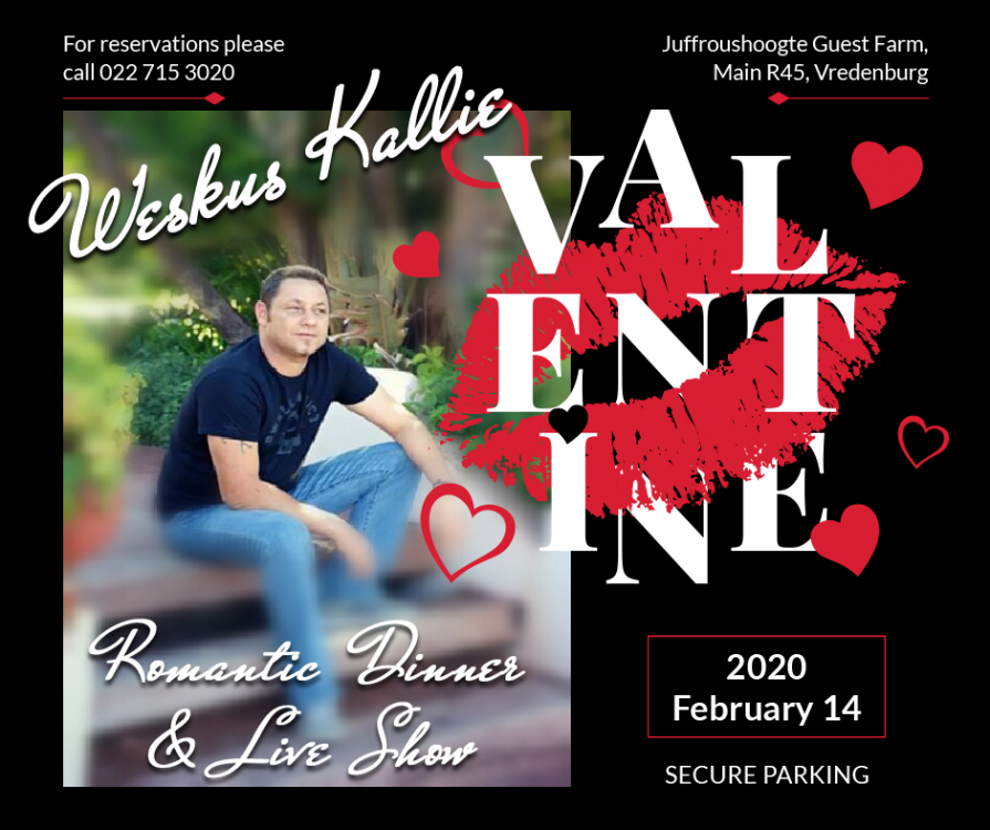 Juffroushoogte Valentine Dinner and Show 2020